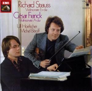 Franck / Strauss, R.: Violin Sonatas —Hoelascher, Béroff; LP cover