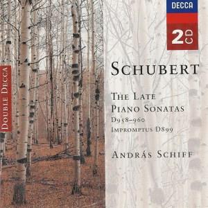Schubert: Piano Sonatas D.958, 959, 960; Impromptus D.899 —Schiff; CD cover