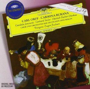 Orff: Carmina burana —Jochum, Janowitz, Fischer-Dieskau; CD cover