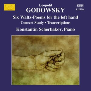 Godowsky, piano works, vol.12 (6 Waltz-Poems, left hand) — Konstantin Scherbakov; CD cover