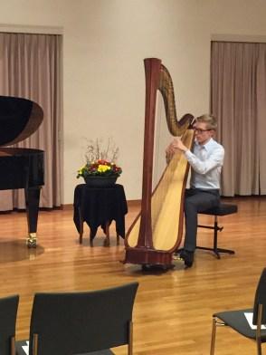 Emanuel Brun, harp, Amthaus Rüti ZH, 2017-02-01