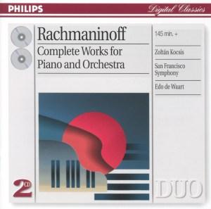 Rachmaninoff: Piano Concertos, Rhapsody — Kocsis, de Waart; CD cover