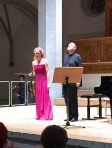 Carolin Widmann & Alexander Lonquich, Kirche St.Johann, Schaffhausen, 2017-09-23 (photo: Lea Kyburz)