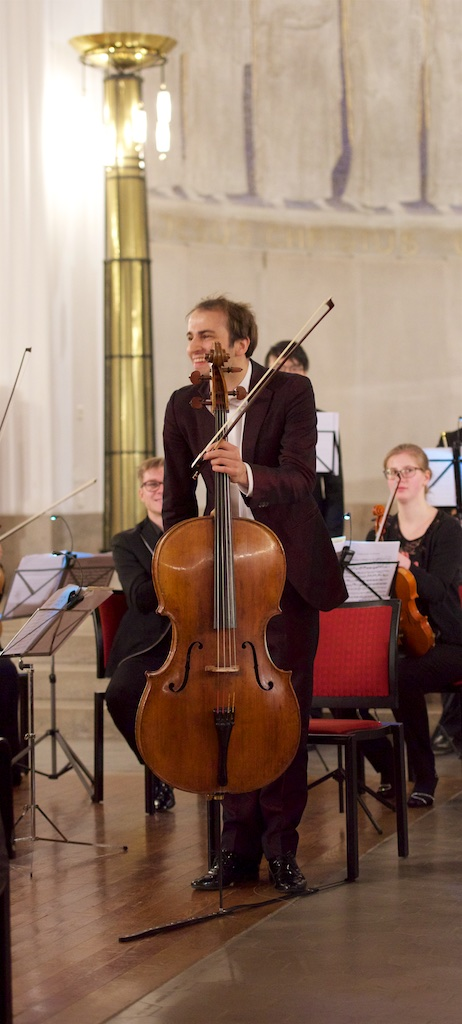Concert Christoph Croisé, Sherniyaz Mussakhan / Young Eurasian Soloists (YES) Chamber Orchestra; Zurich, Kirche Oberstrass, 2017-11-22 (photo: Rolf Kyburz)