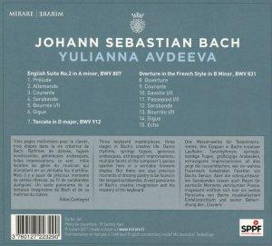 Bach: Keyboard works BWV 807, 831, 912—Avdeeva: CD cover / back