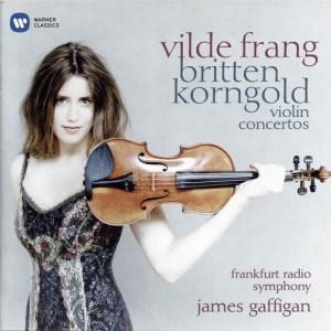 Frang & Gaffigan, Britten & Korngold Violin Concertos —CD cover