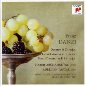 Danzi: Concerti —Arghamanyan, Pascal, Griffiths, MCO: CD cover