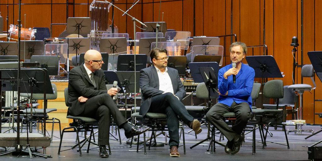 Baldur Brönnimann, Michel Roth, Christian Dierstein @ Basel, 2018-10-21 (© Rolf Kyburz)