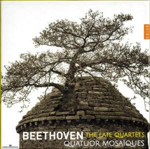 Beethoven, string quartets opp.127, 130-133, 135, Quatuor Mosaïques, CD cover