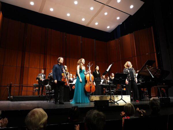Pavel Vernikov, Erica Piccotti, Anastasia Voltchok, Adrija Čepaitė, YES Orchestra —Basel, 2019-05-23 (source: Adrija Čepaitė)