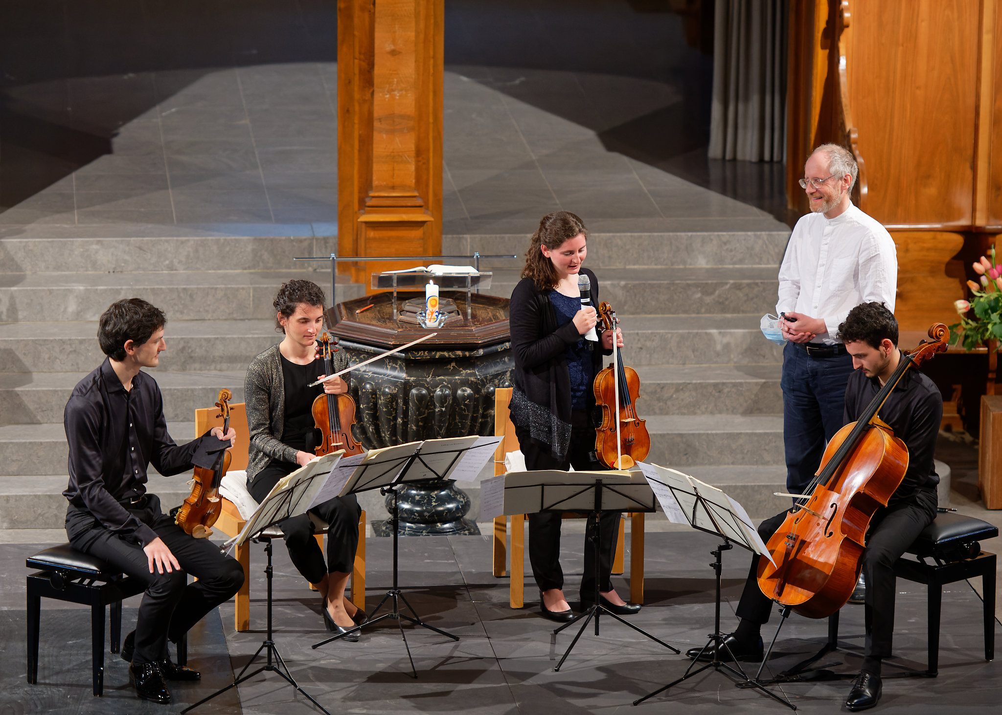 Quatuor Tchalik, Pierre Farago @ St.Peter, Zurich, 2021-05-16 (© Rolf Kyburz)