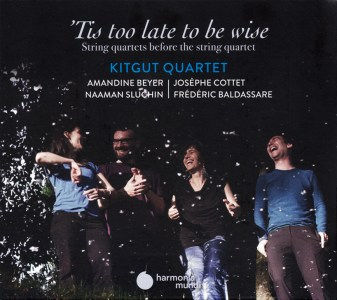 "Kitgut Quartet, ""Tis too late to be wise"" — CD cover"