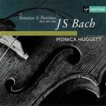 J.S. Bach, Sonatas & Partitas —Monica Huggett (CD cover)