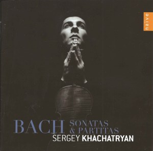 J.S. Bach, Sonatas & Partitas —Sergey Khachatryan (CD cover)