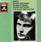 J.S. Bach, Sonatas & Partitas —Yehudi Menuhin (CD cover)