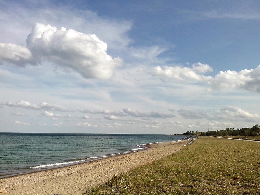beach on Lake Michigan, Illinois Beach State Park