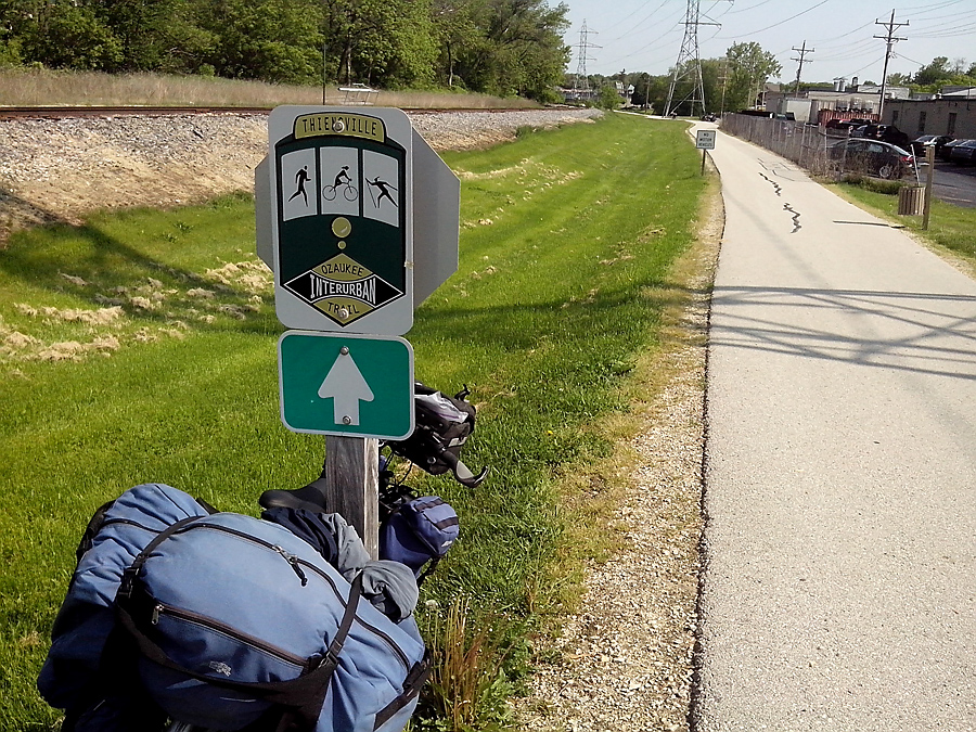 45 miles of paved Ozaukee Trail today