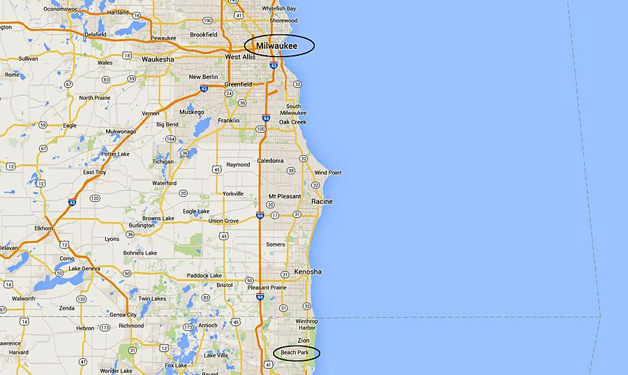 Beach Park to Milwaukee