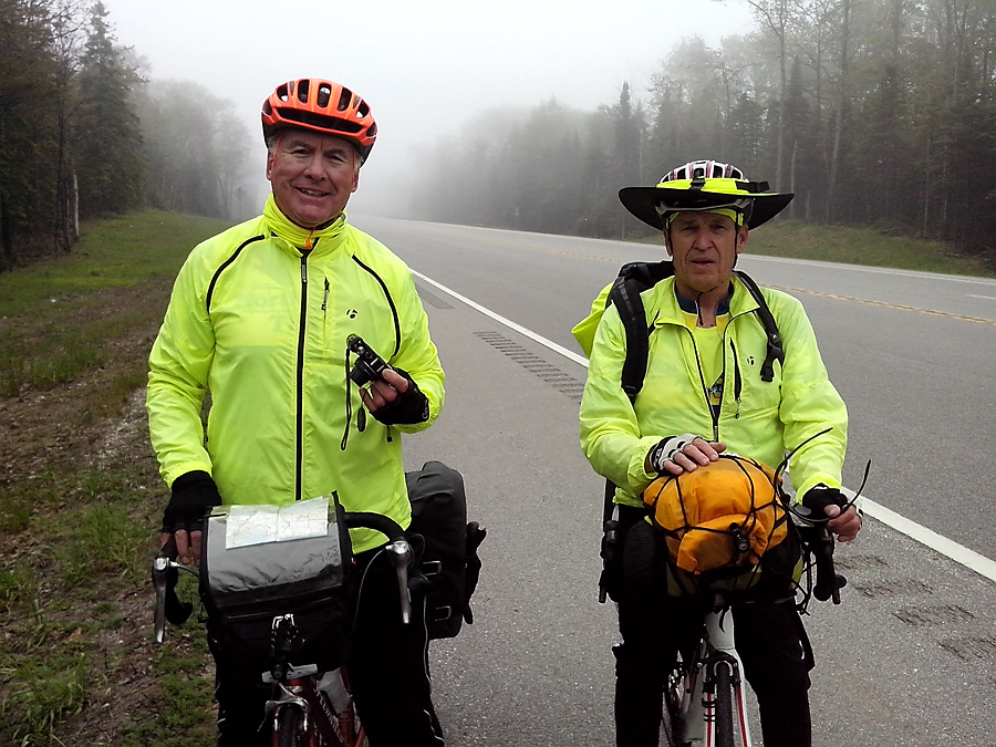 Jerry and Tom (soon to be 70), riding cross country