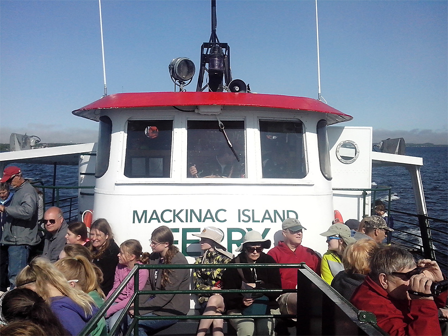 Ferry to Mackinaw Island