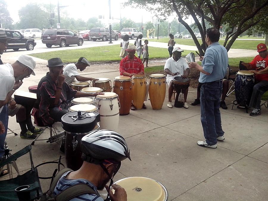 Drumming in Jackson Park