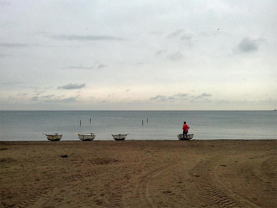 57 Street beach with lone life guard