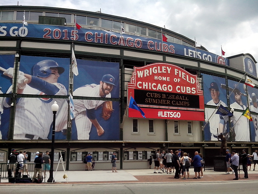 Wrigley Field baseball stadium