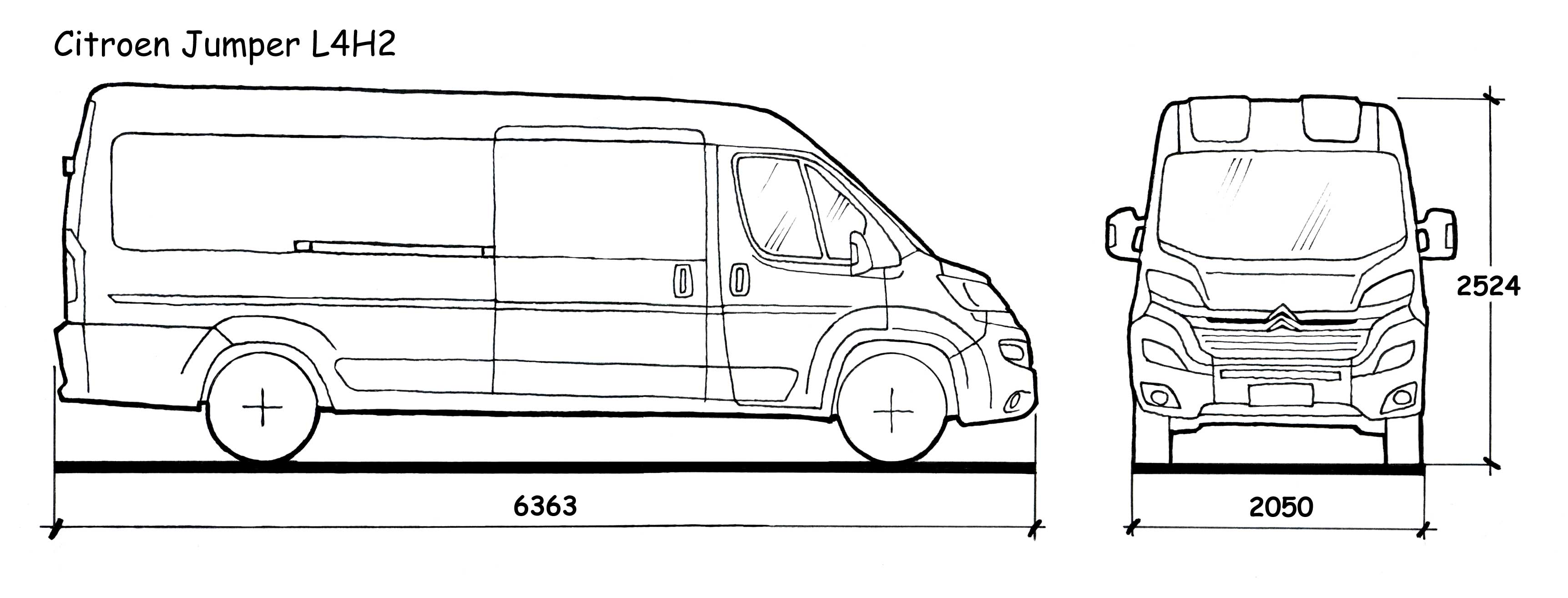 Peugeot Boxer Dimensions The Vector Drawing Peugeot Boxer