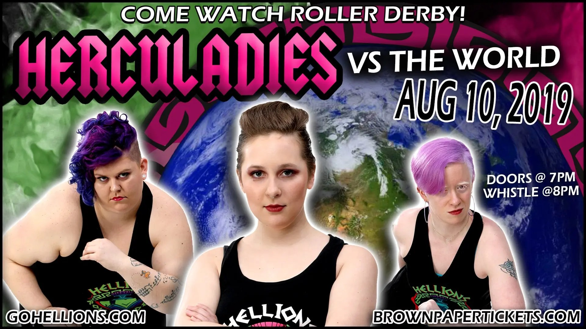 Roller Derby Ladies Herculadies vs The World