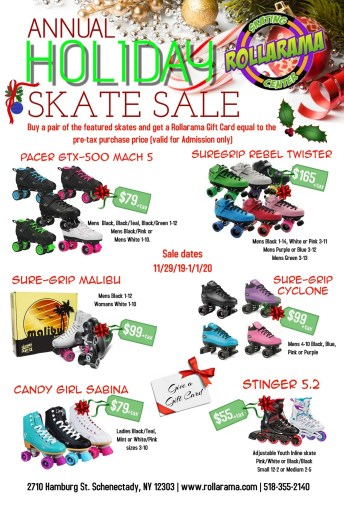 Holiday Skate Sale at Rollarama Skating Center