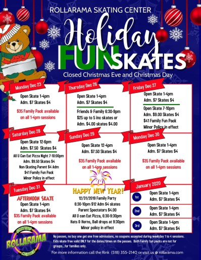 Holiday Fun Skates at Rollarama