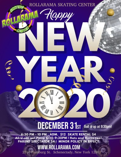 Celebrate New Years at Rollarama on December 31st 6:30-10pm!