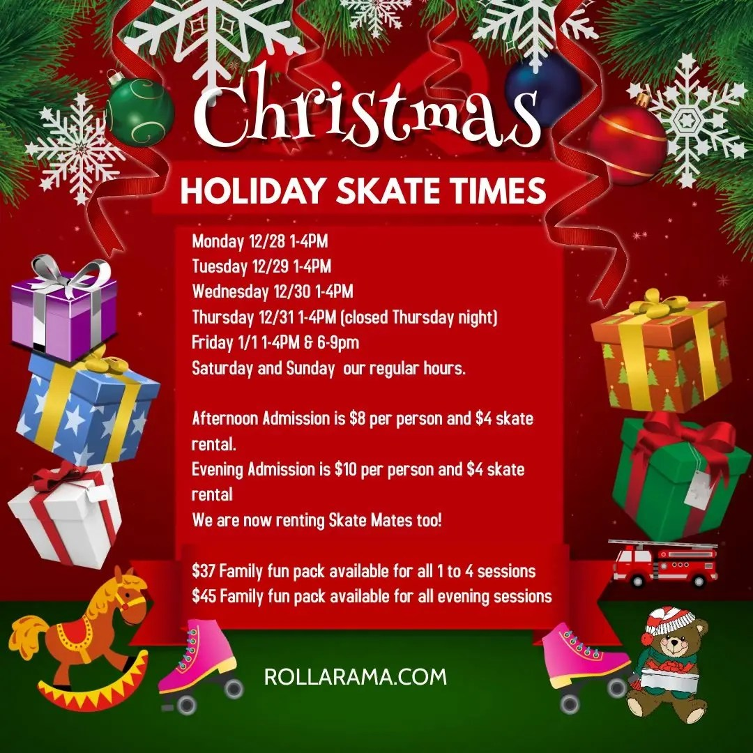 Holiday Hours for Rollarama
