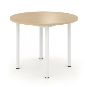 table de reunion ronde en mdf melamine