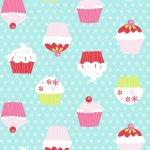 "Stoff – türkis – Cupcakes – Meterware bei ""Möbel Roller"" bestellen"