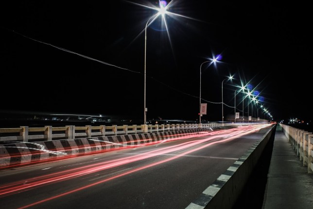 highway in night