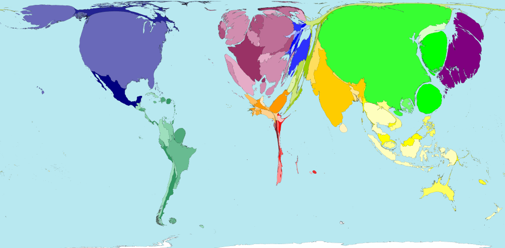 world wealth map 2015