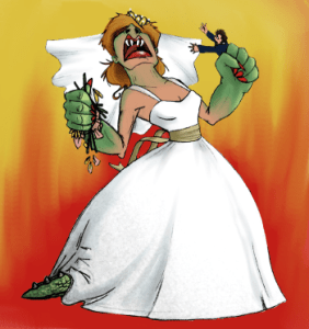 bridezilla and expensive wedding dresses
