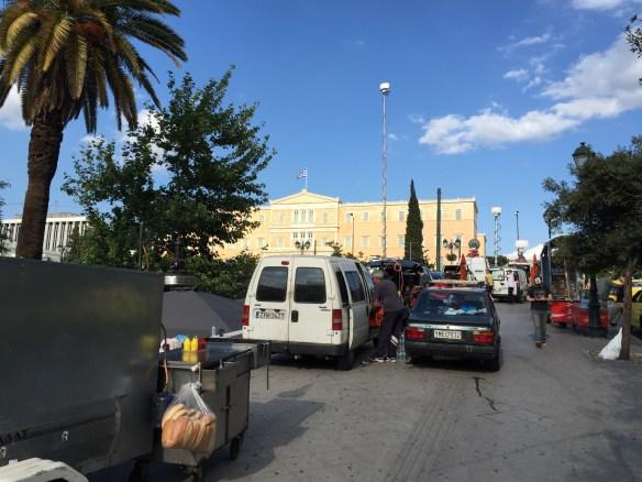 Food trucks and press trucks. We're ready.