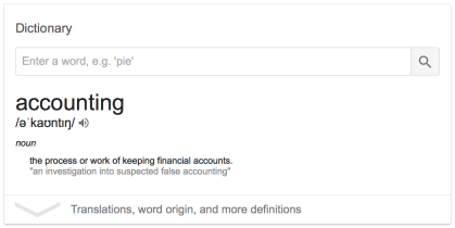 Accounting definition google