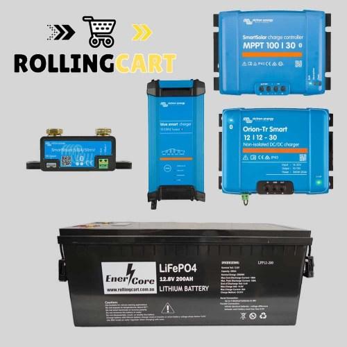 Rolling-Cart-12V-200Ah-Caravan-Kit-plus