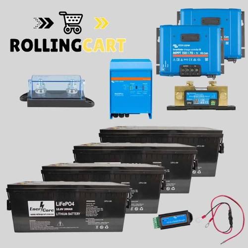 Rolling-Cart-12V-800Ah-Sailboat-Kit