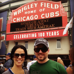 San Antonio Dentists Ana Ferrez and Larry Dougherty at a Cubs Game