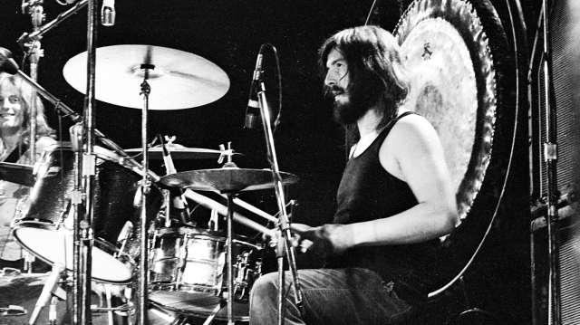 LOS ANGELES - JUNE 03: Drummer John Bonham of the rock band 'Led Zeppelin' performs onstage at the Forum on June 3, 1973 in Los Angeles, California. (Photo by Michael Ochs Archives/Getty Images)
