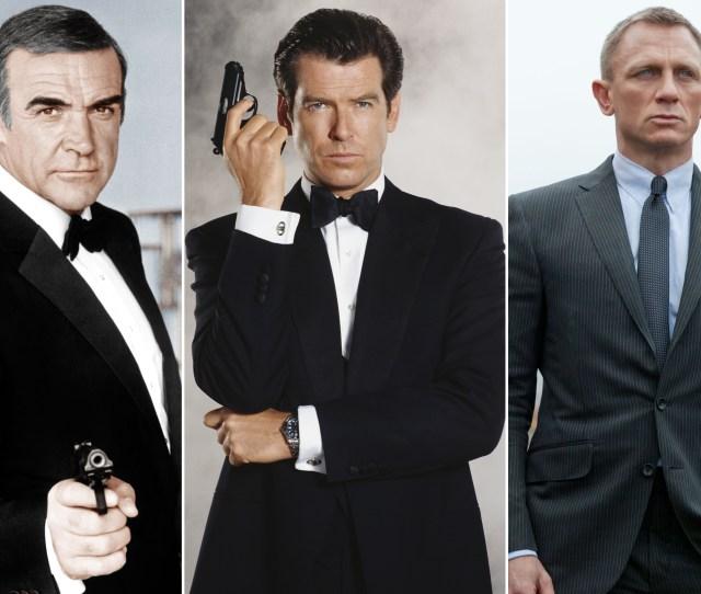 Sean Connery Pierce Brosnan Daniel Craig