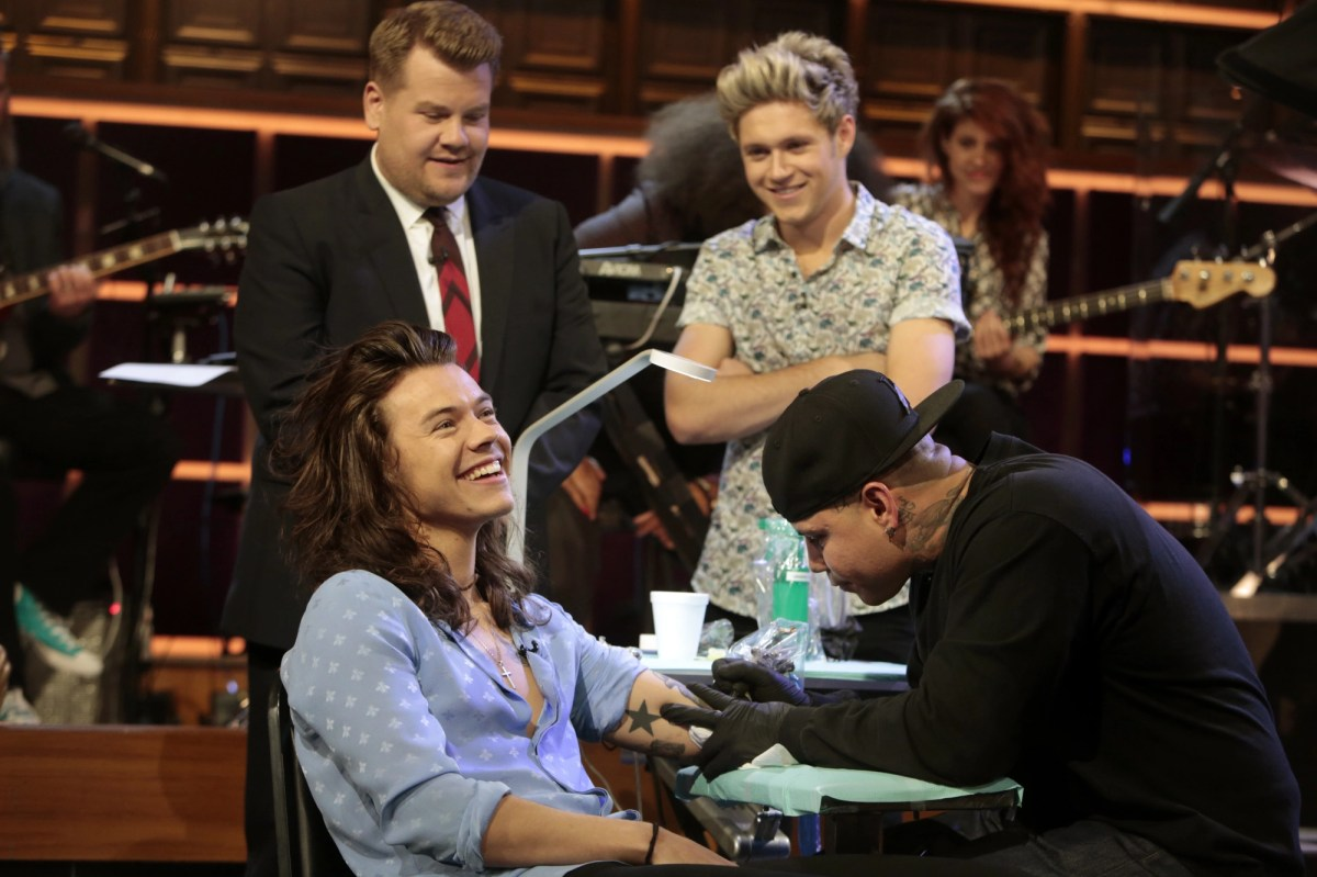 Watch One Direction Play 'Tattoo Roulette' With James Corden - Rolling Stone