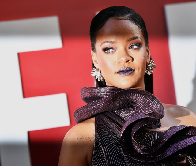 Barbadian Singer Actress Rihanna Arrives For The World Premiere Of Oceans  On June