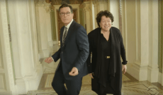 See Stephen Colbert Get Supreme Court Ruling From Sonia Sotomayor: 'Is a Hot Dog a Sandwich?'