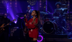 Watch Ariana Grande Perform Brassy 'Imagine' With the Roots on 'Fallon'