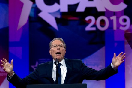NRA executive vice president and CEO Wayne LaPierre speaks at Conservative Political Action Conference, CPAC 2019, in Oxon Hill, MdCPAC LaPierre, Oxon Hill, USA - 02 Mar 2019